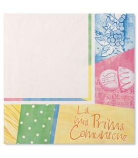 Tovaglioli 3 Veli Comunione Colorata 33x33 cm