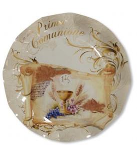 Piatti Piani di Carta Comunione 27 cm 2 confezioni