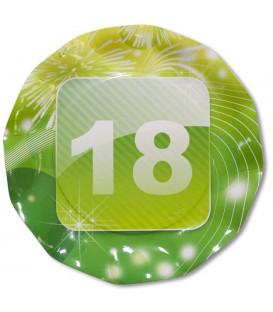 Piatti Piani di Carta 18 Anni App 27 cm 2 confezioni