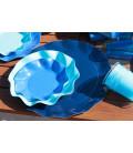 Piatti Piani di Carta a Petalo Blu Caribe 32,4 cm