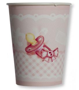 Bicchieri di Carta Eccomi/Baby Rosa 250 cc