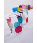 Bicchieri di Plastica Pois Multicolor 300 cc 3 confezioni