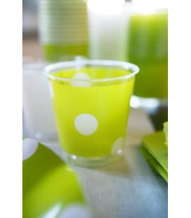 Bicchieri di Plastica Pois Verde Lime 300 cc 3 confezioni