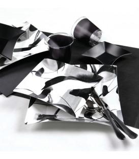 Piatti Piani di Carta Quadrati Piccoli Contemporary Wasabi 19 x 19 cm
