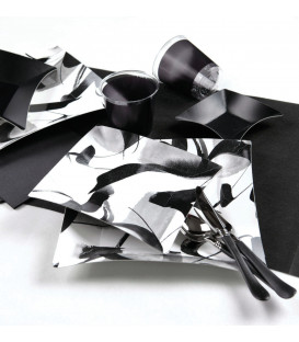 Piatti Piani di Carta Quadrati Grandi Contemporary Wasabi 19x19 cm