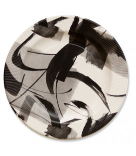 Piatti Piani di Carta a Righe Contemporary 21 cm 3 Confezioni