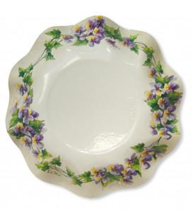 Piatti Fondi di Carta a Petalo Violette 24 cm 2 Confezioni
