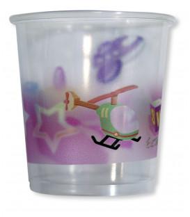 Bicchieri di Plastica Primo Compleanno Palloncini Rosa 250 cc