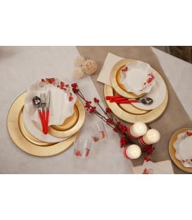 Piatti Piani di Carta a Petalo Natale Vintage 21 cm