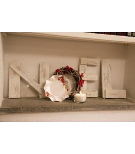 Piatti Fondi di Carta a Petalo Natale Vintage 18,5 cm