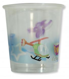 Bicchieri di Plastica PPL Primo Compleanno Palloncini Celeste 250 cc 3 confezioni