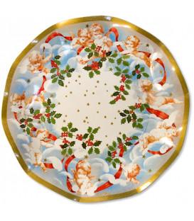 Piatti Piani di Carta a Petalo Magic Angels 27 cm