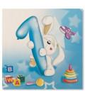 Tovaglioli 3 Veli Primo Compleanno Palloncini Celeste