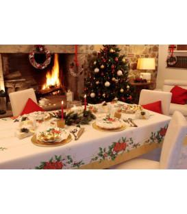 Piatti Piani di Carta a Petalo Natale Romantico 24 cm