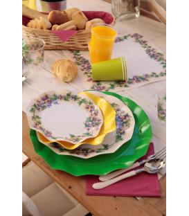 Piatti Fondi di Carta a Petalo Violette 18,5 cm 3 Confezioni
