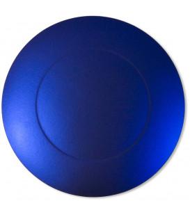Sottopiatto Piano con alberelli Blu Satinato 34 cm 4 Pz