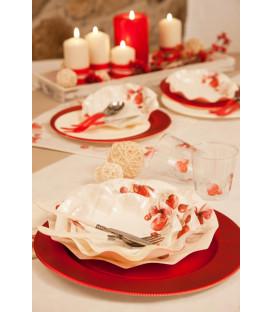 Piatti Piani di Carta a Petalo Natale Vintage 24 cm