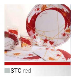 Piatti Piani di Carta a Petalo Stella Rossa 27 cm