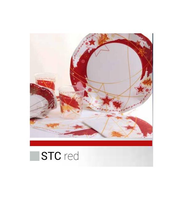 Bicchieri di Plastica PPL Stella Rossa 250 cc