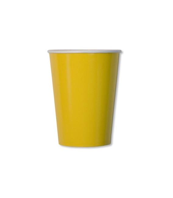 Bicchieri di Carta Giallo 250 cc
