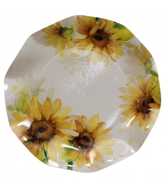 Piatti Piani di Carta a Petalo Sunflower 21 cm