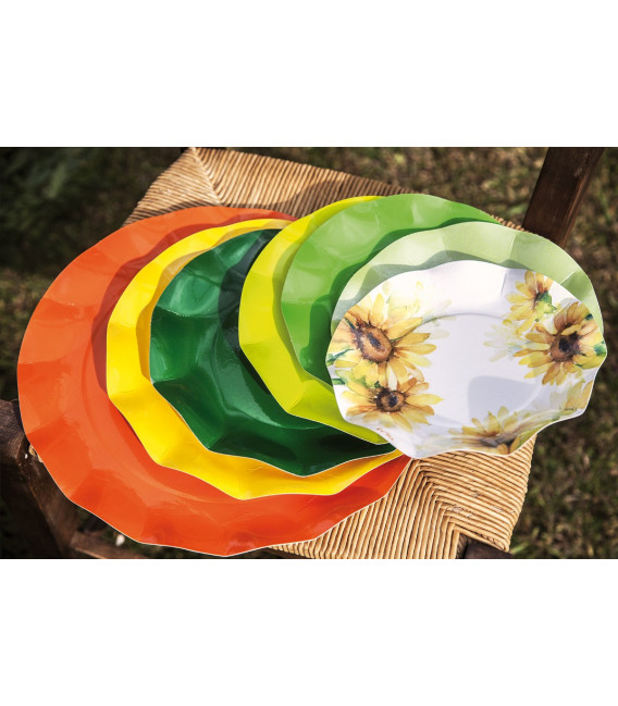 Piatti Fondi di Carta a Petalo Sunflower 18,5 cm