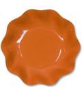 Piatti Fondi di Carta a Petalo Arancione 24 cm
