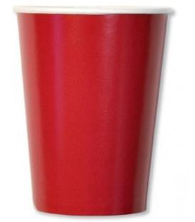 Bicchieri di Carta Rosso 250 cc