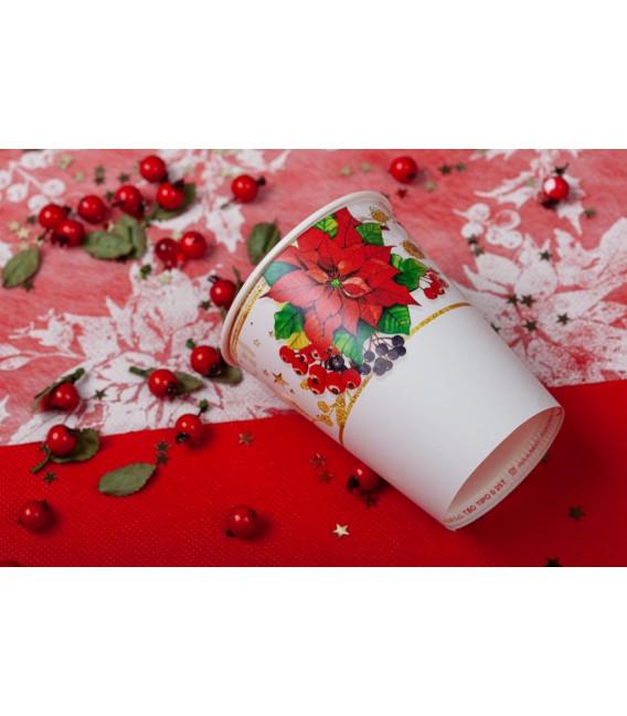 Piatti Piani di Carta a Petalo Lucky Christmas 27 cm