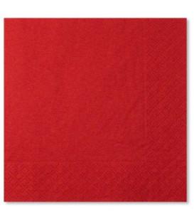 Tovaglioli 3 Veli Rosso 33x33 cm 3 confezioni