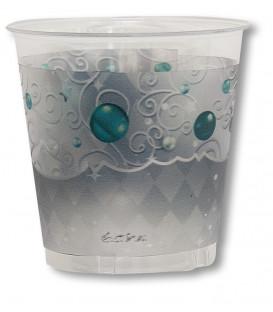 Bicchieri di plastica XMAS LIGHT SILVER 300 cc