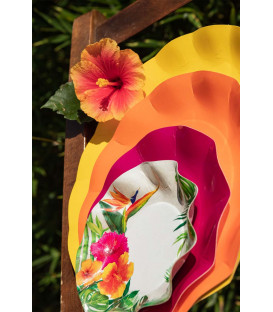 Piatti Fondi di Carta a Petalo Tropical 18,5 cm