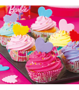 Pirottini - Cupcake Ø 5 cm Stile 2 Barbie 36 Pz