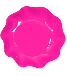 Piatti Fondi di Carta a Petalo Rosa Pink