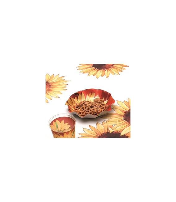 Piatti Piani di Carta a Petalo Girasole 32,4 cm