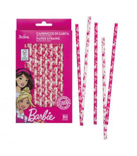 Cannucce Barbie Ø 6 x 210 mm in Carta Bio 80 Pz