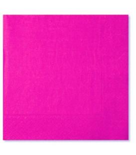 Tovaglioli 3 Veli Rosa Pink 33 x 33 cm 3 confezioni