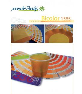 Piatti Piani di Carta a Petalo Bicolore Giallo - Arancione 21 cm