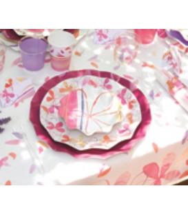Piatti Piani di Carta a Petalo Fresh Pink 27 cm