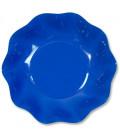 Piatti Fondi di Carta a Petalo Blu Cobalto