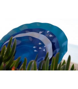 Piatti Piani di Carta a Petalo Ocean 27 cm