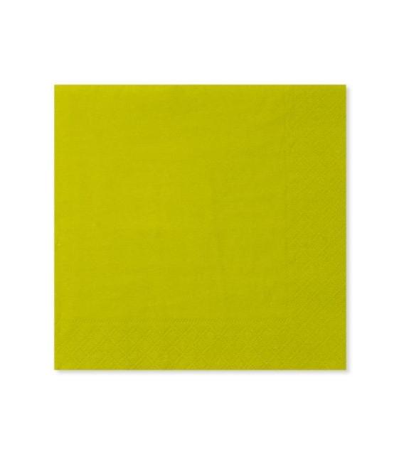Tovaglioli 3 Veli Verde Lime 3 confezioni