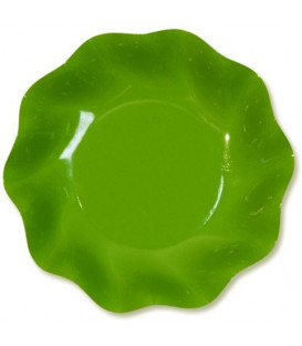 Piatti Fondi di Carta a Petalo Verde Prato 24 cm