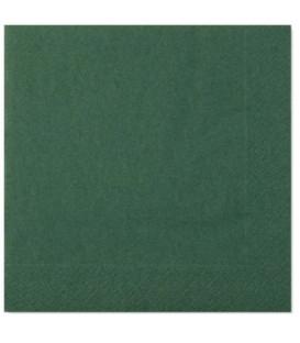 Tovaglioli 2 Veli Verde Scuro 33x33 cm 3 confezioni