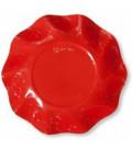 Piatti Fondi di Carta a Petalo Rosso Corallo 18,5 cm
