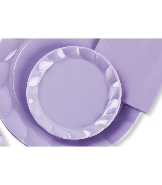 Piatti Piani di Plastica a Petalo Lilla 20 cm 2 confezioni