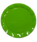 Piatti Piani di Plastica a Petalo Verde 26 cm 2 confezioni