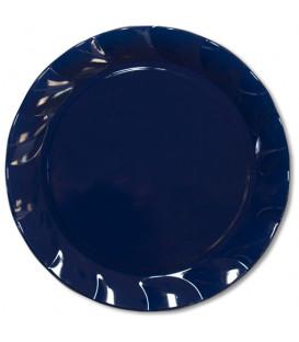 Piatti Piani di Plastica a Petalo Blu Notte 20 cm 2 confezioni