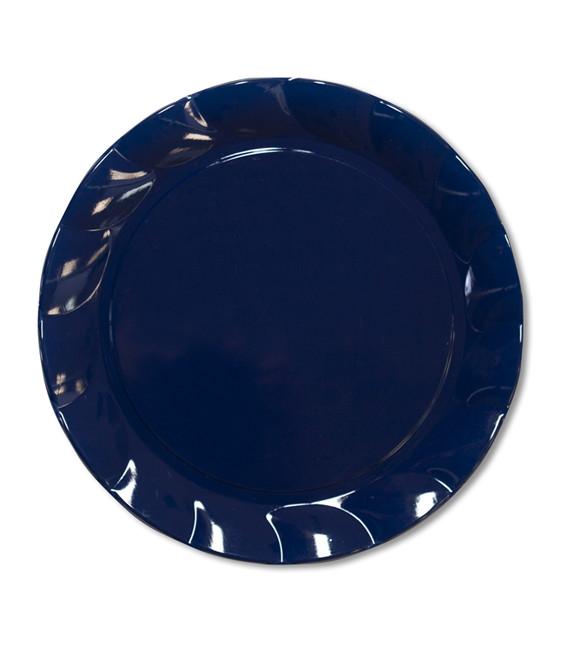 Piatti Piani di Plastica a Petalo Blu Notte 34 cm 2 confezioni