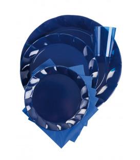 Piatti Piani di Plastica a Petalo Blu Notte 34 cm 5 confezioni